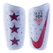 Nike USA Mercurial Lite Soccer Shin Guards (White/Pure Platinum/Blue Void/Gym Red)