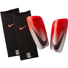 Nike CR7 Mercurial Lite Soccer Shin Guards (Flash Crimson/Silver/Black)