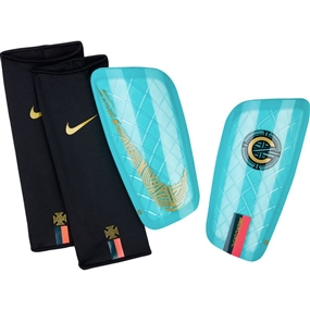 Nike CR7 Mercurial Lite Shin Guards (Clear Emerald/Black/Gold)