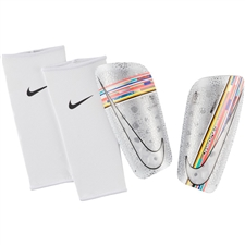 Nike Mercurial Lite Soccer Shin Guards (White/Multi Color/Black)