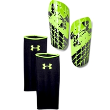 Under Armour Flex Pro Shin Guards (Black/Green)