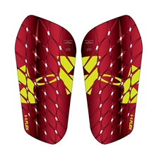 Under Armour Flex Pro Shin Guards (High Vis Yellow/Red)