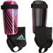 Adidas Youth X Soccer Shin Guards (Shock Pink/Black/Bright Cyan)