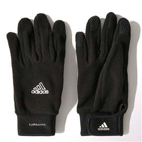Adidas CLIMAWARM Field Player Soccer Gloves (Black/White)