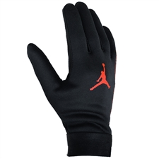 Nike PSG x Jordan HyperWarm Academy Field Player Soccer Gloves (Black/Infrared)