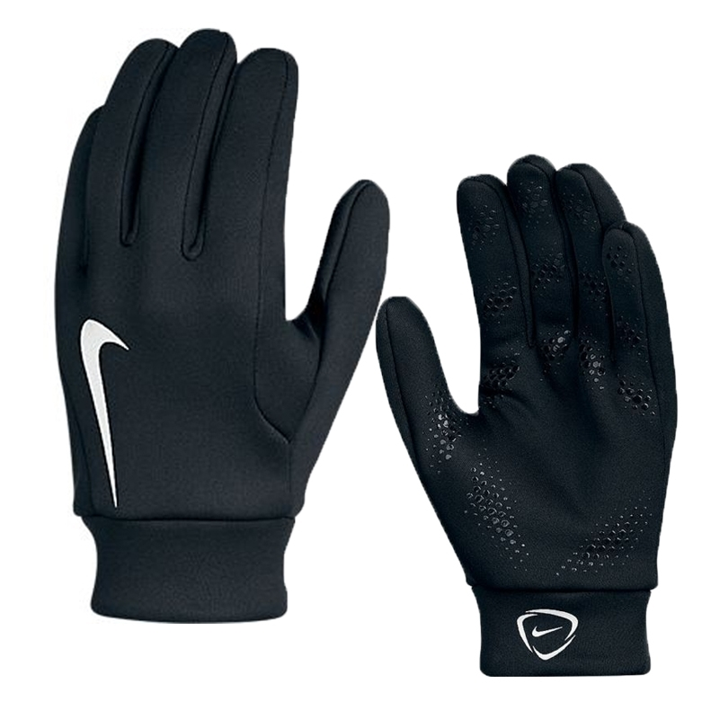 Nike Soccer Gloves: Nike Hyperwarm Youth Field Player Soccer Gloves (Black/White