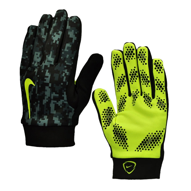 Nike Hyperwarm Youth Field Player Soccer Gloves (Black/Volt)