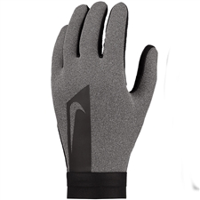 Nike Hyperwarm Academy Field Player Soccer Gloves (Charcoal Heather/Black)