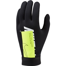 Nike HyperWarm Academy Field Player Soccer Gloves (Black/Volt/White)
