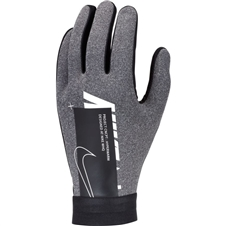 Nike HyperWarm Academy Field Player Soccer Gloves (Charcoal Heather/Black/White)
