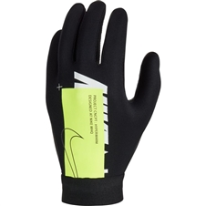 Nike Youth HyperWarm Academy Field Player Soccer Gloves (Black/Volt/White)