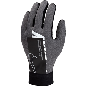 Nike Youth HyperWarm Academy Field Player Soccer Gloves (Charcoal Heather/Black/White)