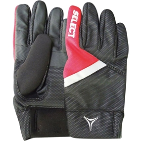 Select Winter Field Player Soccer Gloves (Black/Red)