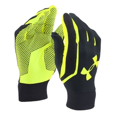 Under Armour Field Player Soccer Gloves (Black/Volt)