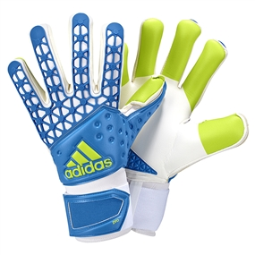 Adidas ACE Zones Pro Soccer Goalkeeper Gloves (Shock Blue/White/Semi Solar Slime)
