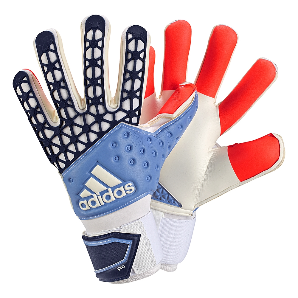 huge discount 4382c 12243 ... Adidas ACE Zones Pro Manuel Neuer Soccer Goalkeeper Gloves (Solar  Red Dark Blue