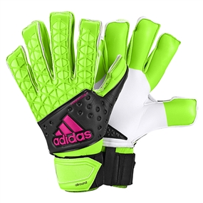 Adidas ACE Zones Allround Fingersave Goalkeeper Gloves (Solar Green/Black/Shock Pink/White)