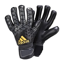 Adidas ACE Pro Classic Soccer Goalkeeper Gloves (Black/Solid Grey/Gold)