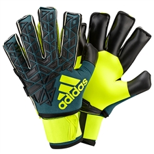 Adidas ACE Trans Ultimate Soccer Goalkeeper Gloves (Tech Green/Black/Solar Yellow)