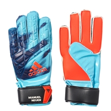 Adidas ACE Fingersave Junior Manuel Neuer Goalkeeper Gloves (Indigo/Solar Red/White/Black)
