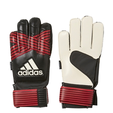 Adidas ACE Fingersave Junior Goalkeeper Gloves (Black/Red/White)
