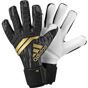 Adidas Predator Pro Goalkeeper Gloves (Black/Solar Red/Copper Gold)