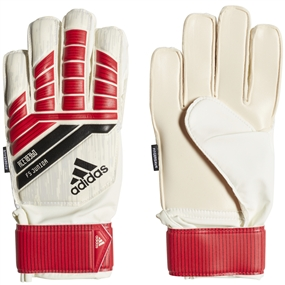 Adidas Predator Fingersave Junior Goalkeeper Gloves (Red/Black/White)