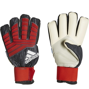 Adidas Predator Pro Fingersave Goalkeeper Gloves (Black/Red/White)