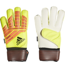 Adidas Predator Fingersave Replique Goalkeeper Gloves (Solar Yellow/Solar Red/Black)