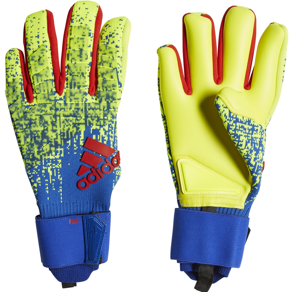 best low price sale huge selection of Adidas Predator Pro Goalkeeper Gloves (Solar Yellow/Bold Blue/Active Red)