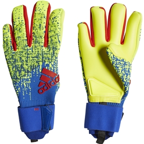 Adidas Predator Pro Goalkeeper Gloves (Solar Yellow/Bold Blue/Active Red)