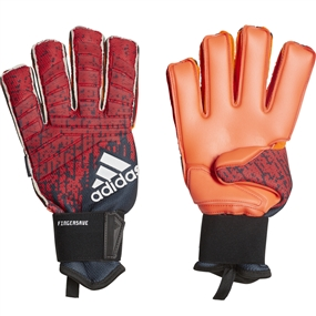 Adidas Predator Pro Fingersave Goalkeeper Gloves (Active Red/Black/Solar Red)