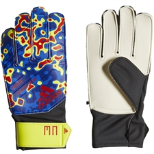 Adidas Predator Junior Manuel Neuer Goalkeeper Gloves (Solar Yellow/Football Blue/Active Red)