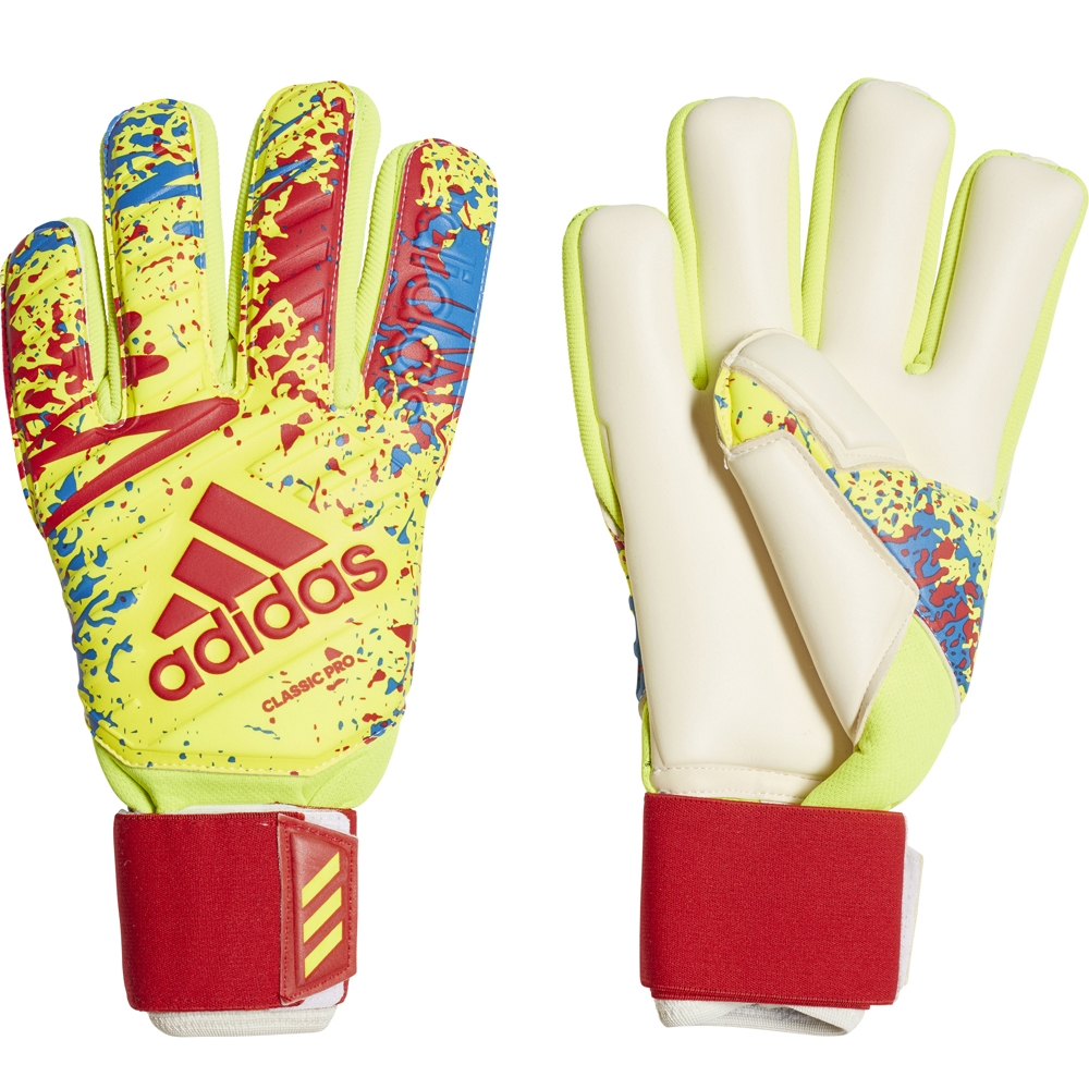 9a1b00dea Adidas Classic Pro Goalkeeper Gloves (Solar Yellow Active Red ...
