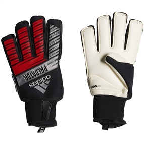 Adidas Predator Ultimate Goalkeeper Gloves (Black/Silver Metallic/Hi-Res Red)