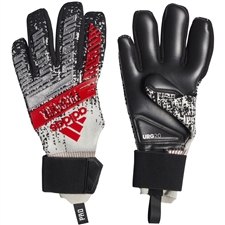 Adidas Predator Pro Goalkeeper Gloves (Silver Metallic/Black/Hi-Res Red)
