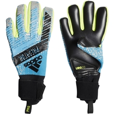 Adidas Predator Pro Goalkeeper Gloves (Bright Cyan/Silver Metallic/Solar Yellow/Black)