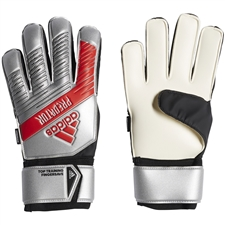 Adidas Predator Top Training Fingersave Goalkeeper Gloves (Silver Metallic/Black)