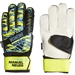 Adidas Youth Predator Top Training Fingersave Manuel Neuer Goalkeeper Gloves (Solar Yellow/Bright Cyan/Black)