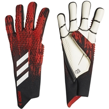 Adidas Predator 20 Pro Goalkeeper Gloves (Black/Active Red)