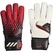 Adidas Predator 20 Match Fingersave Goalkeeper Gloves (Black/Active Red)