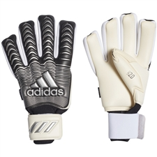 Adidas Classic Pro Fingersave Goalkeeper Gloves (White/Black/Silver Metallic)