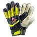 Adidas Predator Fingersave Junior Soccer Gloves (Bright Yellow/Dark Grey/Flash Orange)