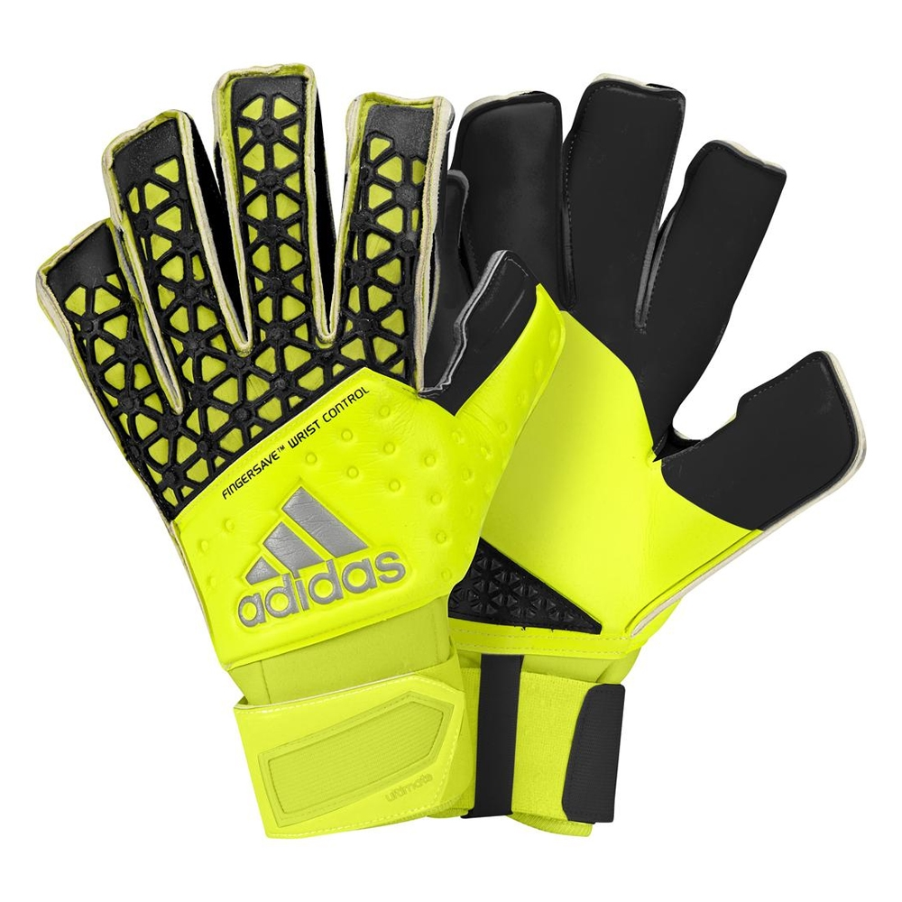 ACE Zones Ultimate Fingersave Goalkeeper Gloves (Solar Yellow Semi ... be71530d6