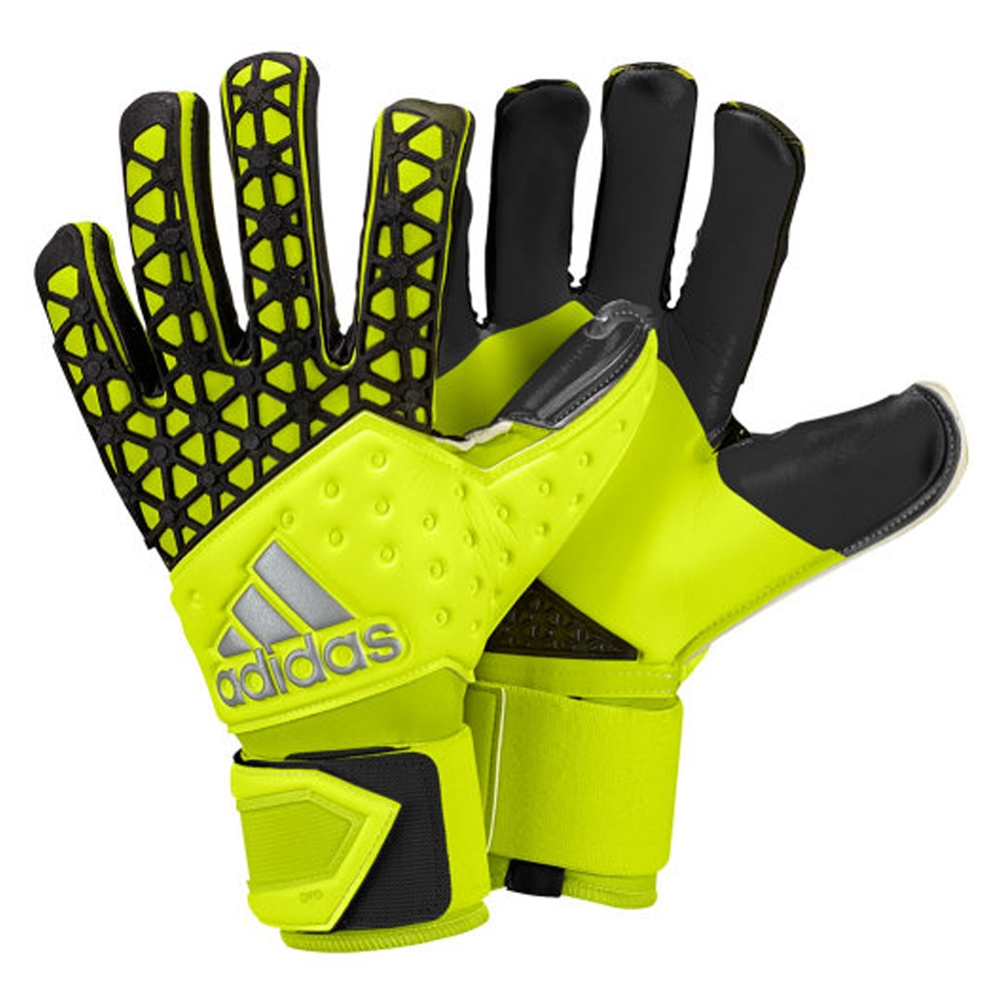 ACE Zones Pro Soccer Goalkeeper Gloves (Solar Yellow Black)  fa7deca94274