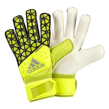 Adidas ACE Fingersave Replique Soccer Gloves (Solar Yellow/Semi Solar Yellow/Black)