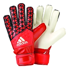 Adidas ACE Fingersave Junior Soccer Goalkeeper Gloves (Solar Red/Bold Orange/Black)