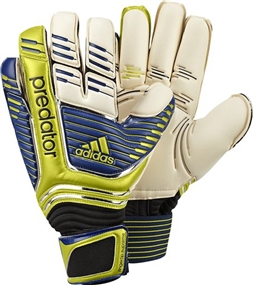 Adidas Predator Fingertip Supreme 2012 Soccer Gloves (White/BrightBlue/Lablime)