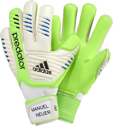 bce290c1c  71.99 - Adidas Manuel Neuer Predator Pro Soccer Gloves in White and Macaw
