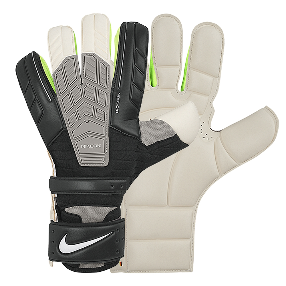 Nike Confidence Soccer Goalkeeper Glove (Black White)  a1e37158a